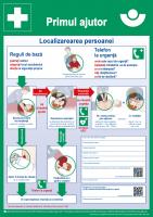 Erste Hilfe (Plakat, DIN A2, rumänisch) Primul ajutor