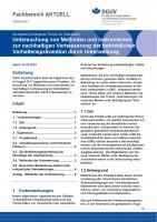 """FBORG-001 """"Untersuchung von Methoden und Instrumenten zur nachhaltigen Verbesserung der betrieblichen Verhaltensprävention durch Unterweisung"""""""