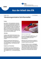 Vibrationsgeminderte Schriftenmeißel. Aus der Arbeit des IFA Nr. 0096