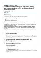 Grundsätze für die Prüfung von Belagteilen in Fang- und Dachfanggerüsten sowie von Schutzwänden in Dachfanggerüsten