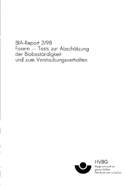 Fasern, BIA-Report 2/98