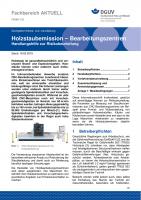 """FBHM-103 """"Holzstaubemission − Bearbeitungszentren (Handlungshilfe zur Risikobeurteilung)"""""""