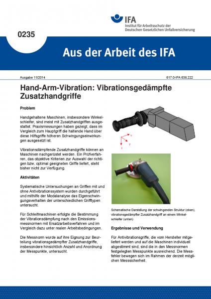 Hand-Arm-Vibration: Vibrationsgedämpfte Zusatzhandgriffe. Aus der Arbeit des IFA Nr. 0235