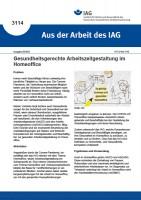 Gesundheitsgerechte Arbeitszeitgestaltung im Homeoffice (Aus der Arbeit des IAG 3114)