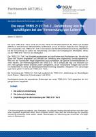 """FBHL-012 """"Die neue TRBS 2121 Teil 2 """"Gefährdung von Beschäftigten bei der Verwendung von Leitern"""""""
