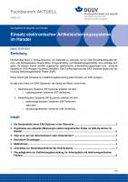 """FBHL-011 """"Einsatz elektronischer Artikelsicherungssysteme im Handel"""""""