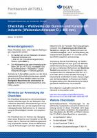 """FBRCI-001 """"Checkliste - Walzwerke der Gummi- und Kunststoffindustrie (Walzendurchmesser D kleiner 400mm)"""""""