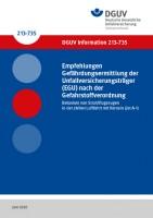 Empfehlungen Gefährdungsermittlung der Unfallversicherungsträger (EGU) nach der Gefahrstoffverordnung Betanken von Strahlflugzeugen in der zivilen Luftfahrt mit Kerosin (Jet A-1)
