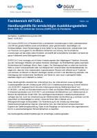 """FBEH-102 """"Handlungshilfe für ermächtigte Ausbildungsstellen - Erste Hilfe im Betrieb im Umfeld der Corona (SARS-CoV-2)-Pandemie"""""""