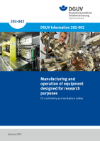 Manufacturing and operation of equipment designed for research purposes