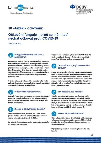 10 otázek k očkování: Očkování funguje – proč se mám teď nechat očkovat proti COVID-19