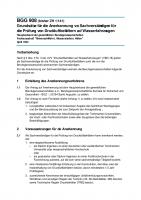 Anerkennung von Sachverständigen für die Prüfung von Druckluftbehältern auf Wasserfahrzeugen