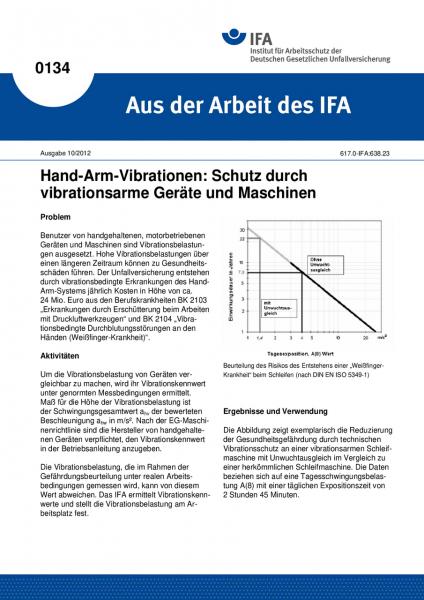 Hand-Arm-Vibrationen: Schutz durch vibrationsarme Geräte und Maschinen. Aus der Arbeit des IFA Nr. 0