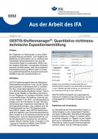 GESTIS-Stoffenmanager: Quantitative nichtmesstechnische Ermittlung der inhalativen Exposition (Aus der Arbeit des IFA Nr.  0352)