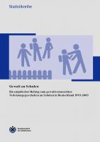 Gewalt an Schulen 1993-2003
