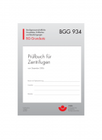 Prüfbuch für Zentrifugen