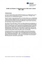 Unfälle von Kindern in Tagesbetreuung im Alter unter 3 Jahren 1999-2009