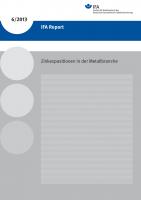 Zinkexpositionen in der Metallbranche (IFA Report 6/2013)