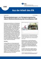 Rückenbelastungen von Zerspanungsmechanikern/Weiterentwicklung des Grundsatzes G46 (Aus der Arbeit des IFA Nr. 0380)