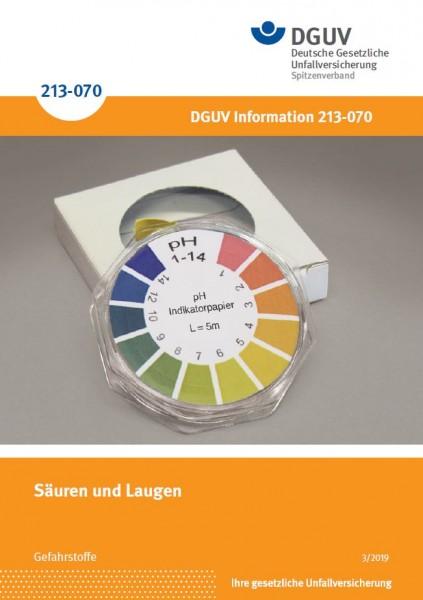 """Säuren und Laugen (Merkblatt M 004 der Reihe """"Gefahrstoffe"""")"""