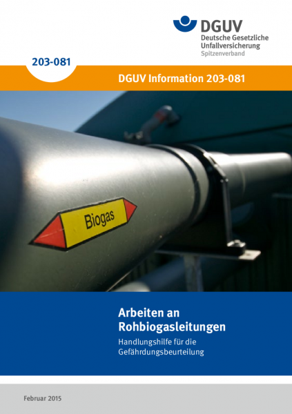 Arbeiten an Rohbiogasleitungen