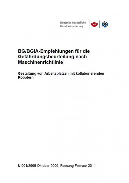 BG/BGIA-Empfehlungen für die Gefährdungsbeurteilung nach Maschinenrichtlinien - Gestaltung von Arbei