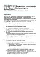 Grundsätze für die Ermächtigung von Sachverständigen für die Prüfung von Flüssiggasanlagen auf Wasserfahrzeugen