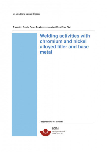 Welding activities with chromium and nickel alloyed filler and base metal
