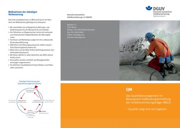 QM – Das Qualitätsmanagement im Messsystem Gefährdungsermittlung der Unfallversicherungsträger (MGU)