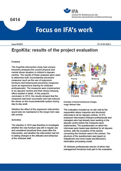 ErgoKita: results of the project evaluation (Focus on IFA works No. 0414)