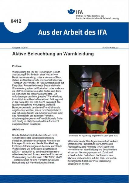 Aktive Beleuchtung an Warnkleidung (Aus der Arbeit des IFA 0412)