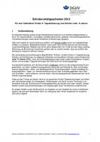 Unfallgeschehen für das Teilkollektiv Kinder in Tagesbetreuung und Schüller unter 15 Jahren 2012
