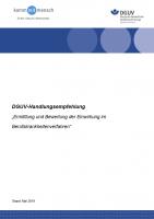 """DGUV Handlungsempfehlung """"Ermittlung und Bewertung der Einwirkung im Berufskrankheitenverfahren"""""""