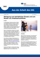Befragung zum betrieblichen Einsatz und zum Nutzen von Arbeitsschutzfilmen (Aus der Arbeit des IAG Nr. 3063)