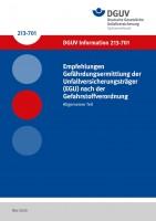Empfehlungen Gefährdungsermittlung der Unfallversicherungsträger (EGU) nach der Gefahrstoffverordnung - Allgemeiner Teil